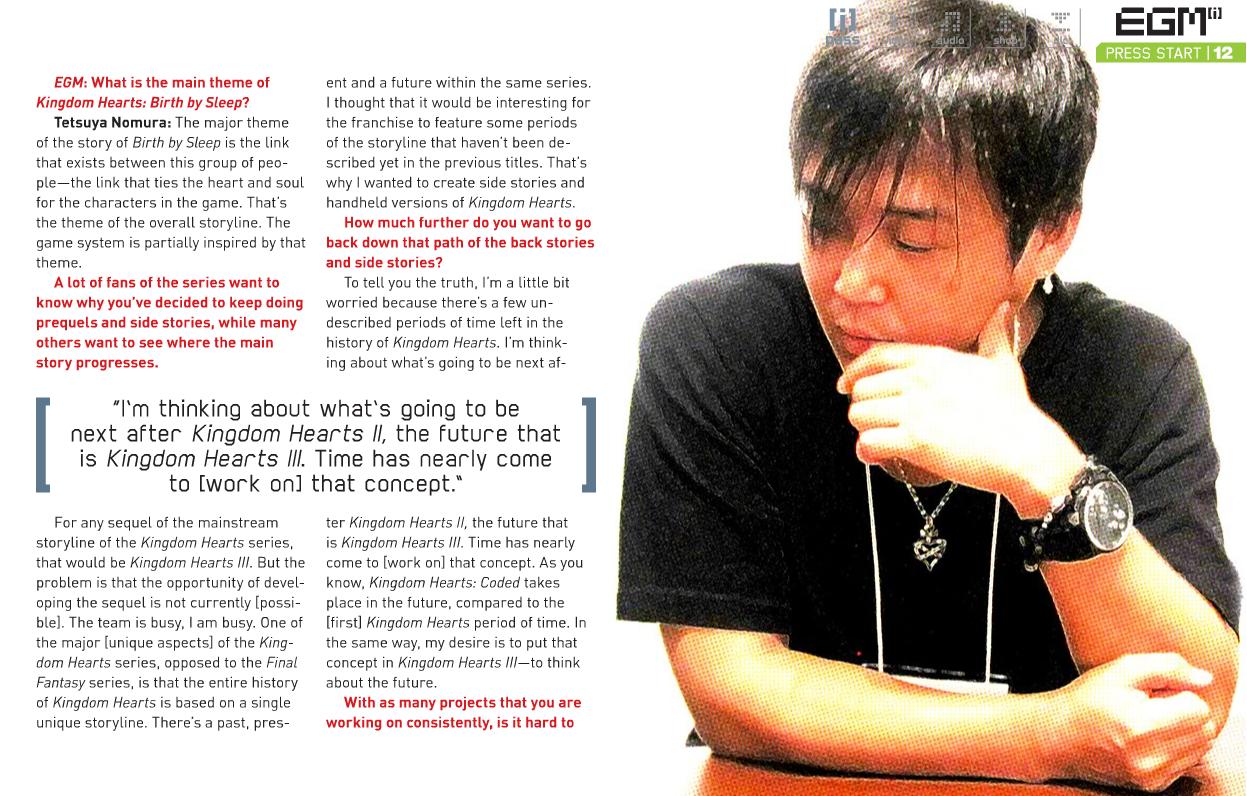 Nomura Talks About Kingdom Hearts 3! *Update* - Kingdom