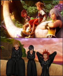 Trinities definitely play a special role in Kingdom Hearts. There's no denying that Nomura has drawn parallels between the trio from the original game and the trios in 358/2 Days and Birth by Sleep.