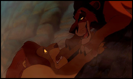 Scar was the cause of easily one of the most tragic scenes in Disney's history: Mufasa's death. He not only murdered his brother and attempted to off his nephew, he made sure to guilt that nephew into believing he was the cause of his own father's demise. Yeah, he's a bad one. But you wouldn't know it from Kingdom Hearts 2. Scar, wherefore art thou?