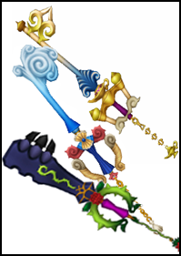The Kingdom Hearts team have got extremely creative with the keyblades over the years. This'll be your chance to add your own additions! What exactly would a keyblade from Tifa look like? How would you expect the keyblade from Notre Dame to be designed? Create for yourself!