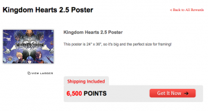 Kingdom Hearts HD 2.5 Remix Poster from GameStop